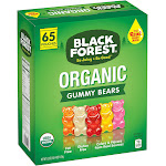 Black Forest Organic Gummy Bears, Assorted - 65 count, 0.8 oz pouches