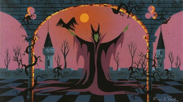 Sleeping Beauty concept art by Eyvind Earle.