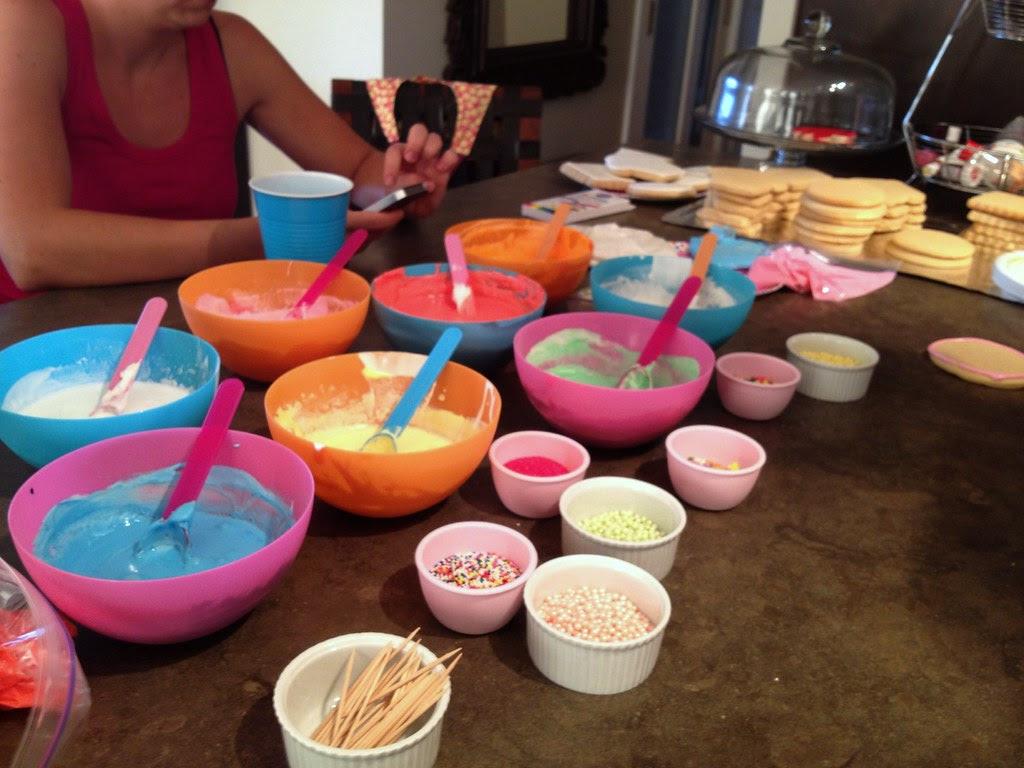 Sari's Cookie Decorating set up