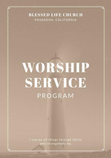 Customize 110  Church Program templates online   Canva