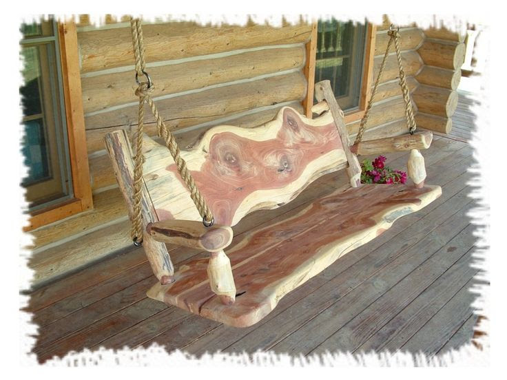 LOG PORCH SWING!