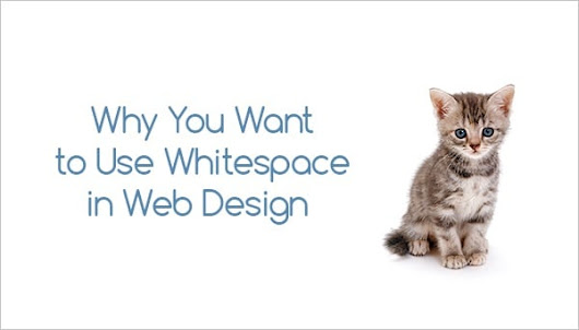 Why You Want to Use Whitespace in Web Design