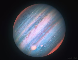 APOD: 2018 February 21 - Jupiter in Infrared from Hubble
