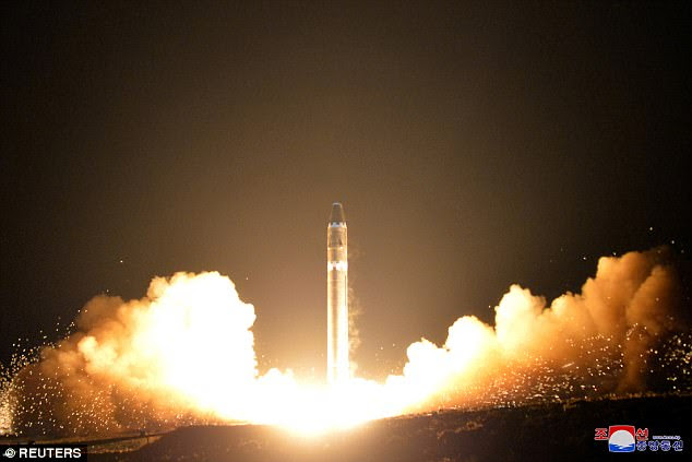 A view of the newly developed intercontinental ballistic rocket Hwasong-15's test that was successfully launched is seen in this undated photo released by North Korea's Korean Central News Agency (KCNA) in Pyongyang November 30