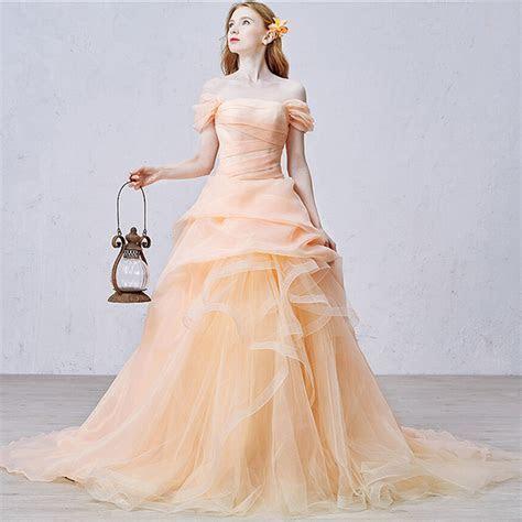 Popular Light Orange Wedding Dresses Buy Cheap Light