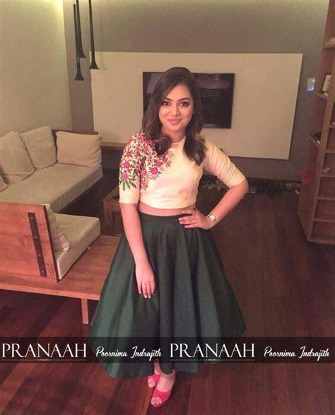 Nazriya nazim in pranaah ball skirt and crop top   Style