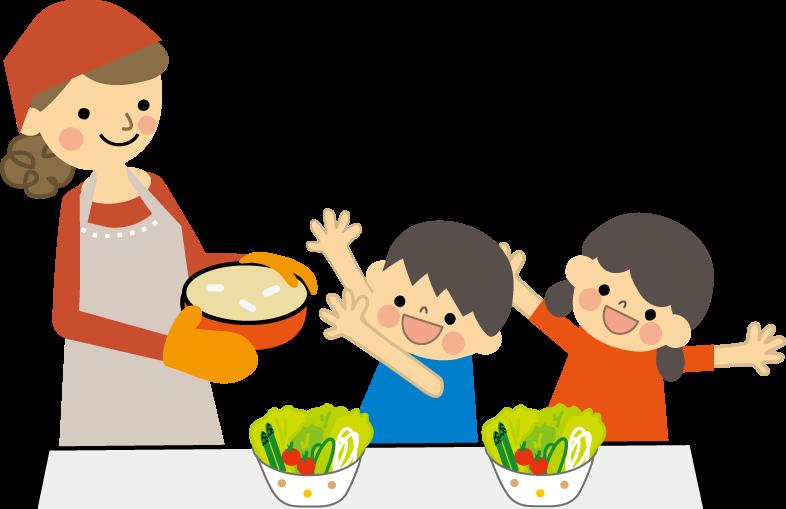 家族 食事のイラスト無料イラストフリー素材