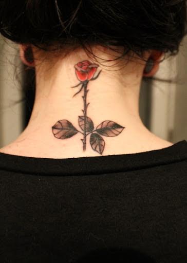 Neck Rose Tattoo Design Of Tattoosdesign Of Tattoos