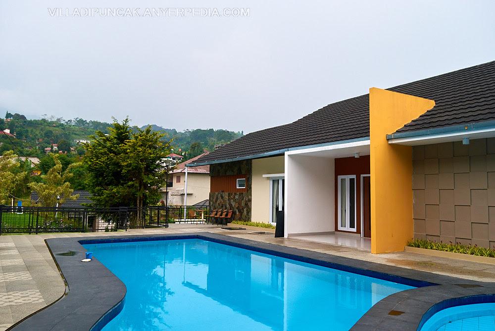 villa lereng pangrango b puncak nikmati kemewahan fasilitas dengan view gunung pangrango