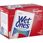 Wet Ones Hand Wipes, Antibacterial, Singles, Fresh Scent - 24 wipes