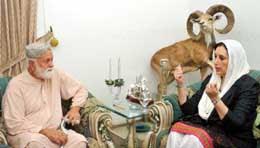 Benzir Bhutoo's  condolance to Nawab Khair Bux Mari for Balach Death