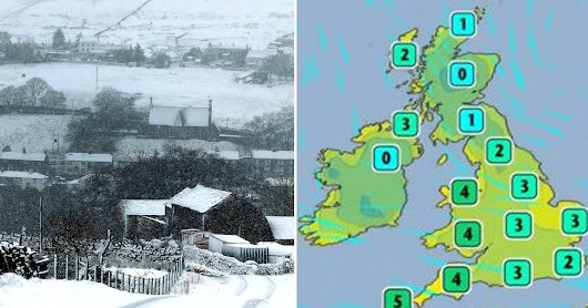 Britain braced for -10C winter blast bringing three inches of snow by weekend