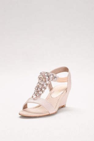 jeweled  strap wedges  gems davids bridal