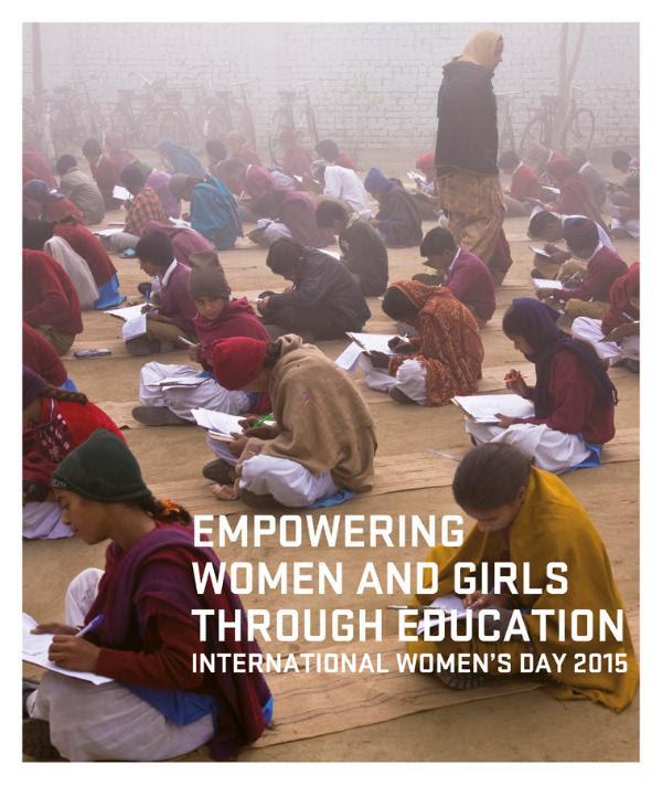 Póster del Parlamento Europeo sobre el día internacional de la mujer 2015