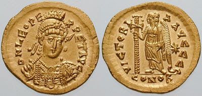 0743 Gold solidus of Leo 1