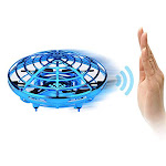 YUTALOW UFO drone,infrared Sensors Interactive Drone Flying toys,360 Rotating Hand controlled,obstacle Avoidance Induction, LED Lighting for 3-10 Year