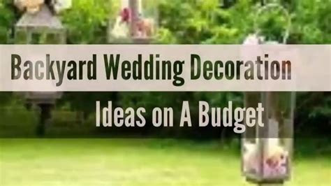 33  Beautiful Backyard Wedding Decoration Ideas on a