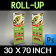 Restaurant  Roll Up Signage Banner Template Vol.11