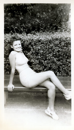 Holli on a bench L970