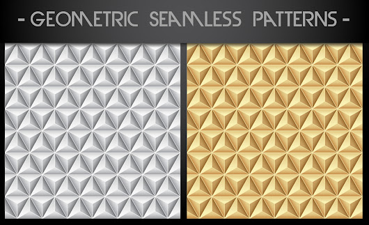6 Free Vector Gold and Silver Geometric Patterns