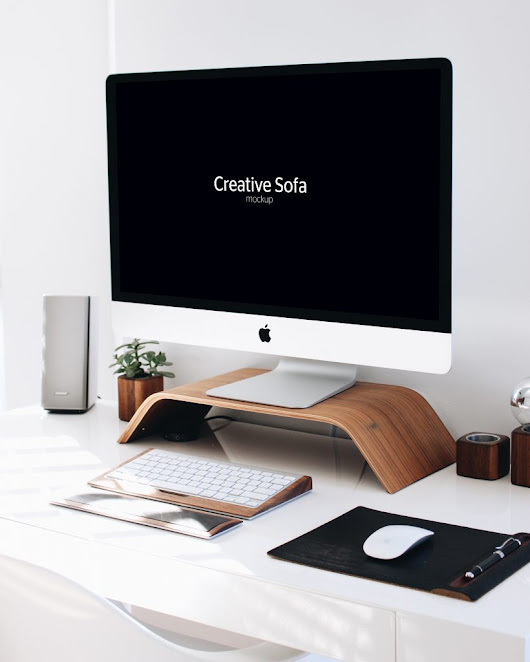 Free iMac - Perspective Mockup Download PSD