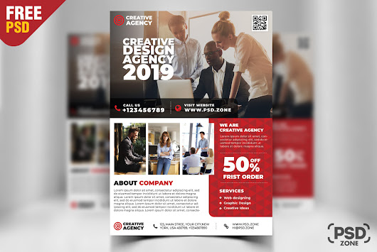 Free Corporate Business Flyer Design PSD - PSD Zone