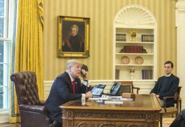 Trump y Kushner en el Despacho Oval.