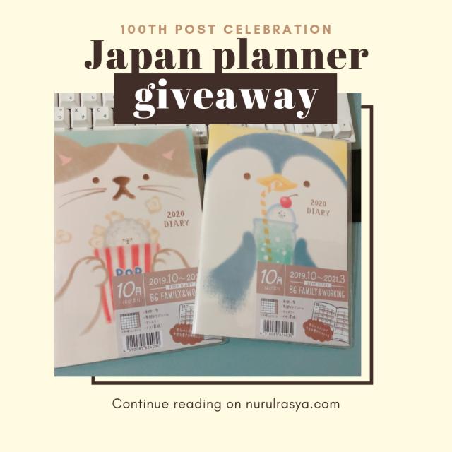 Giveaway | 100th Post Celebration Ft. Japan Planner Giveaway!
