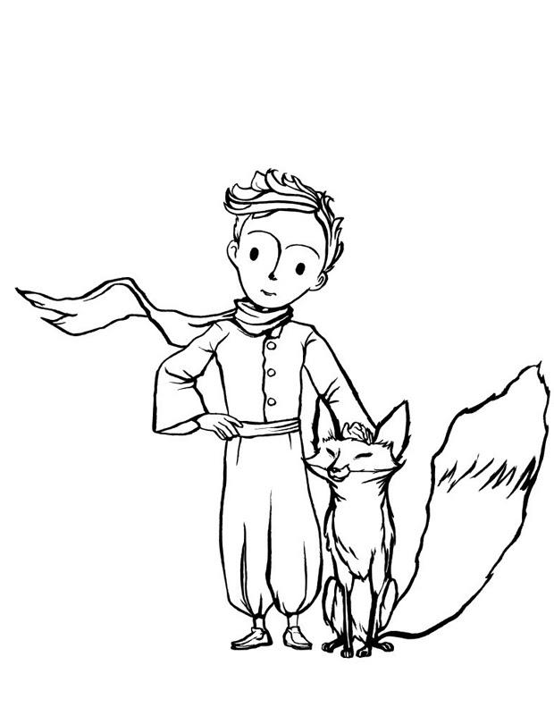 Le Petit Prince Et Son Renard Est Un Coloriage à Imprimer