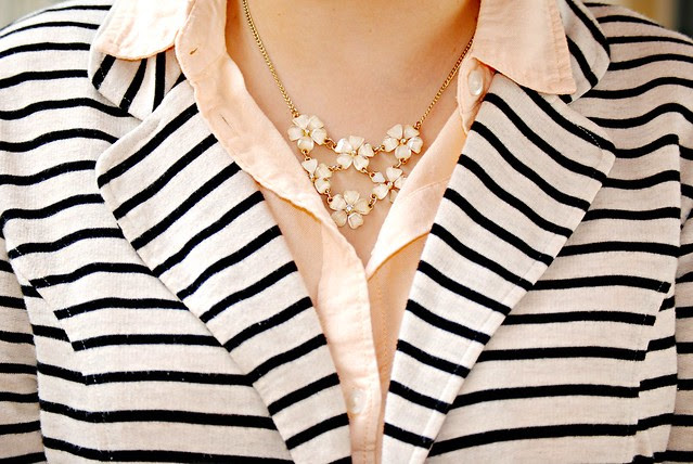 Spring Work Outfit_flower necklace