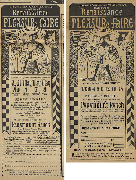 Blast From the Past: Historic Renaissance Faire Advertisements from the LA Free Press - Curating Los Angeles