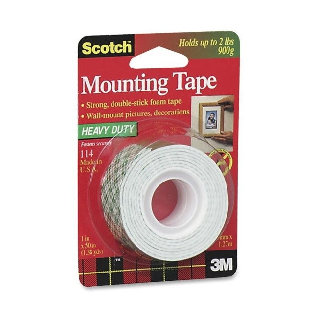 3m Scotch 114 Heavy Duty Double Sided Mounting Roll 1 X 50
