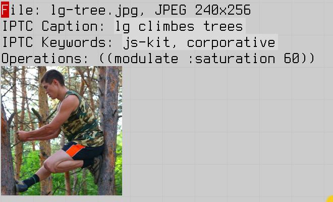 caption and keywords added