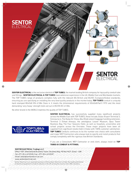 Sentor electrical toptubes electrical advert