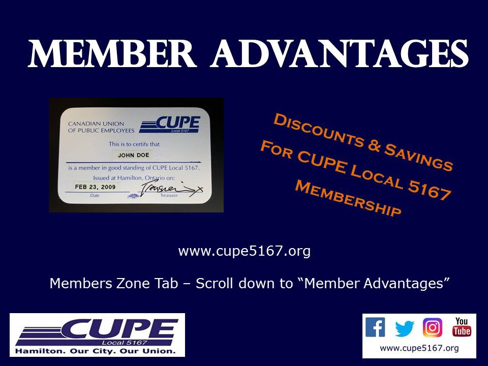 Member Advantages | CUPE Local 5167