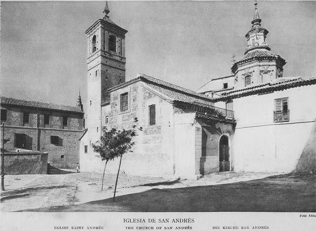 Iglesia de San Andrés a comienzos del siglo XX. Foto Aldus