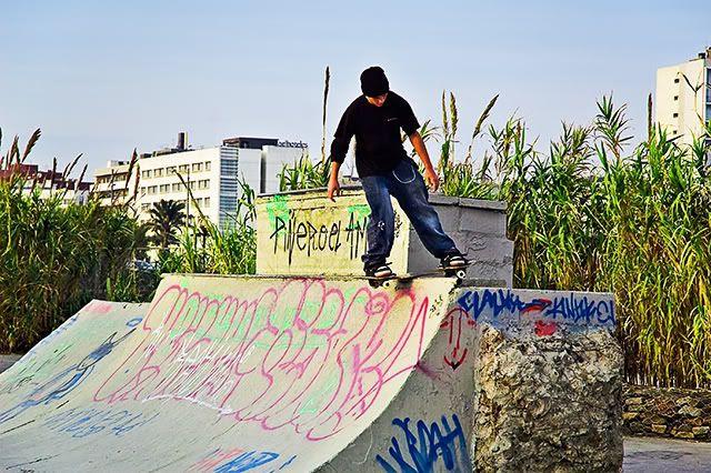Skateboarding in Barcelona [enlarge]