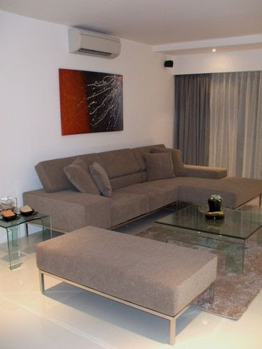 The Fabric L-Shaped Sofa with Ottomon