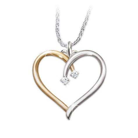 Heart Shaped Diamond Pendant Necklace: My Darling Daughter