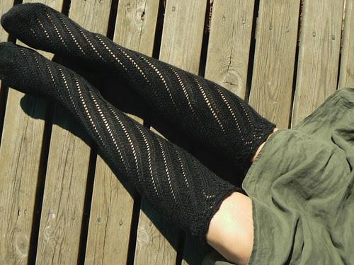 spiral boot socks FO