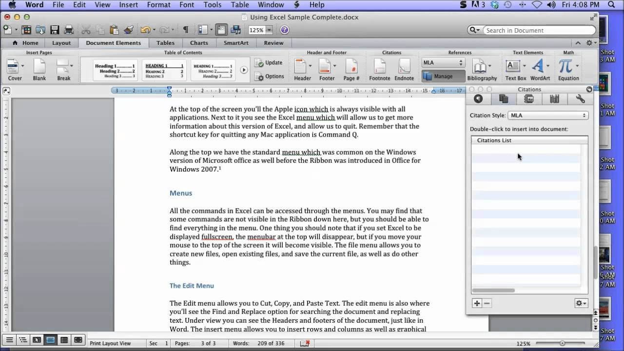 Create a Bibliography in Word 2011 for Mac - YouTube
