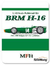 Kit 1/43 Model Factory Hiro - BRM H-16 - Nº 14 - J. Stewart - Gran Premio de Belgica 1967 - kit Multimedia