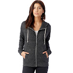 Alternative - Ladies' Cool Down Eco-Jersey Zip Hoodie-ECO BLACK-S