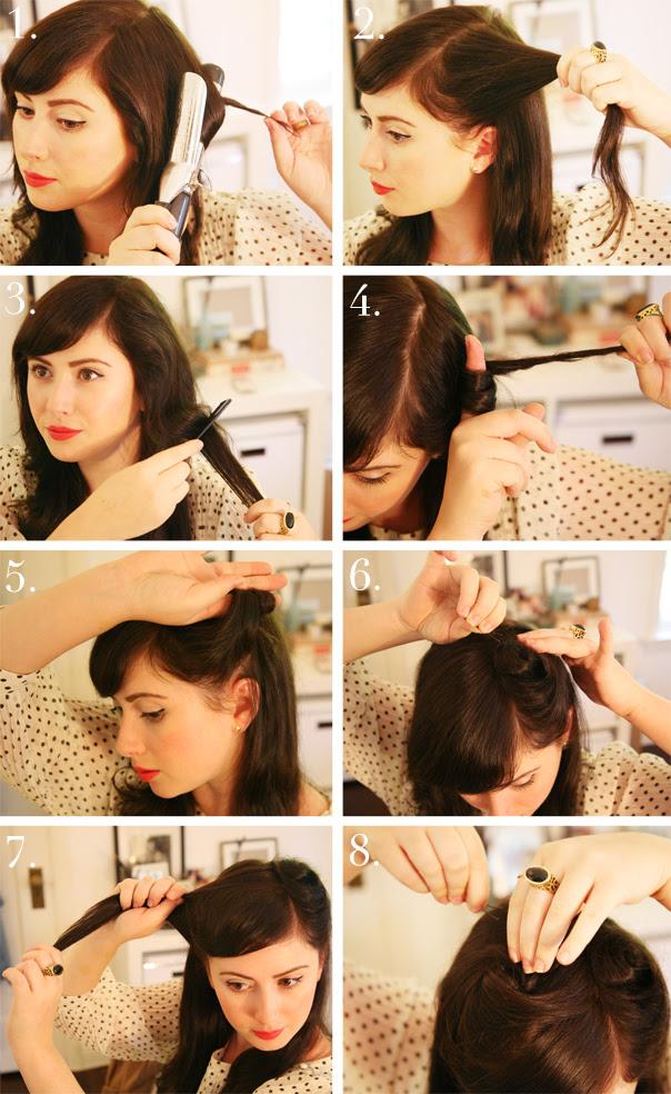 1940s Hair Tutorial   theglitterguide.com