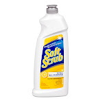 Soft Scrub Total All Purpose Bath and Kitchen Cleanser, Lemon, 24 Oz