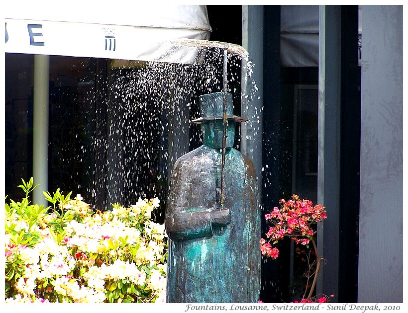 Most beautiful fountains - Switzerland, Lausanne - Images by Sunil Deepak