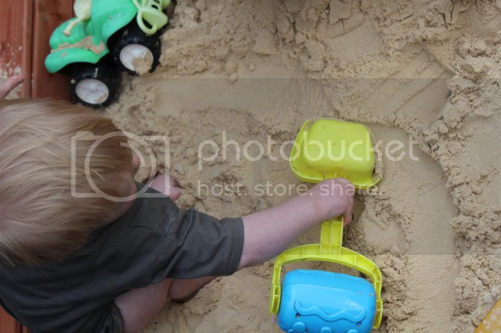 Playing in sandpit