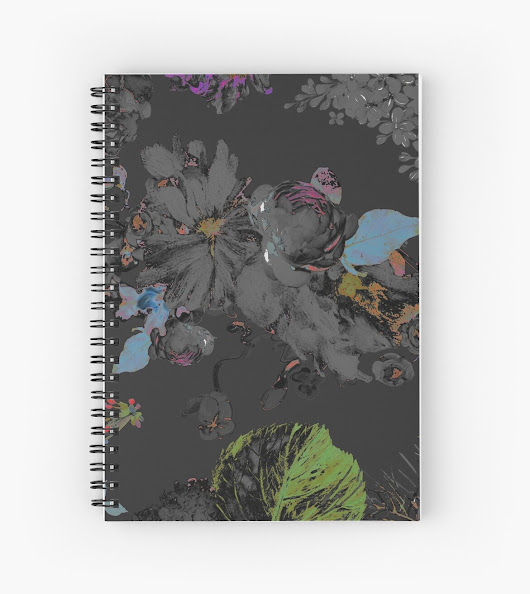 'Black Road by hyndussidart' Spiral Notebook by Simona Al Nseir