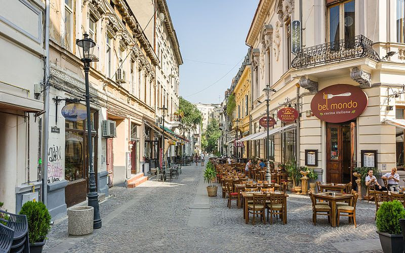 Lipscani Old Town Walk Bucharest Romania
