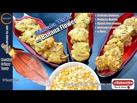 Banana Flower Recipe for Masala Vada | Paruppu Vada | Masala Vadai  @Teeny Tots
